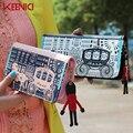 Mulheres de Design da marca Carteira Cor Hit Retro Trojans Carriager Longas Carteiras Criativo Animal Print Mudança Bolsa Rebite Zipper Senhora