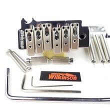 Wilkinson couteau sous licence bord Type 2 poste point Double balançoire guitare électrique trémolo pont Chrome argent pour Strat guitare WOV10