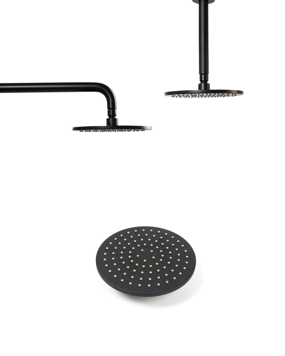 Us 22 52 22 Off Matt Black Round Square Rain Shower Head Black Shower Arm Wall Mouned And Ceiling Mounted Brass Bathroom Shower In Shower Heads