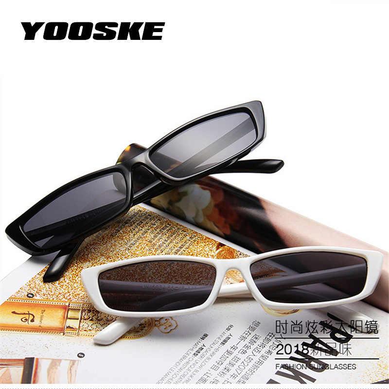 YOOSKE petites lunettes de soleil carrées femmes marque design rétro oeil de chat lunettes de soleil mode femme lunettes UV400 Rectangle lunettes de soleil