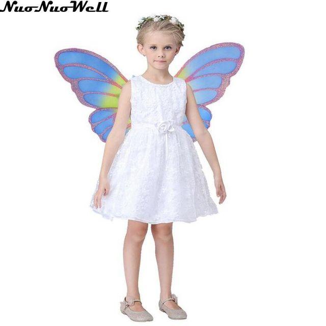 flower fairy dress kids fancy party christmas halloween dress insect elf demon dress cosplay costume girls