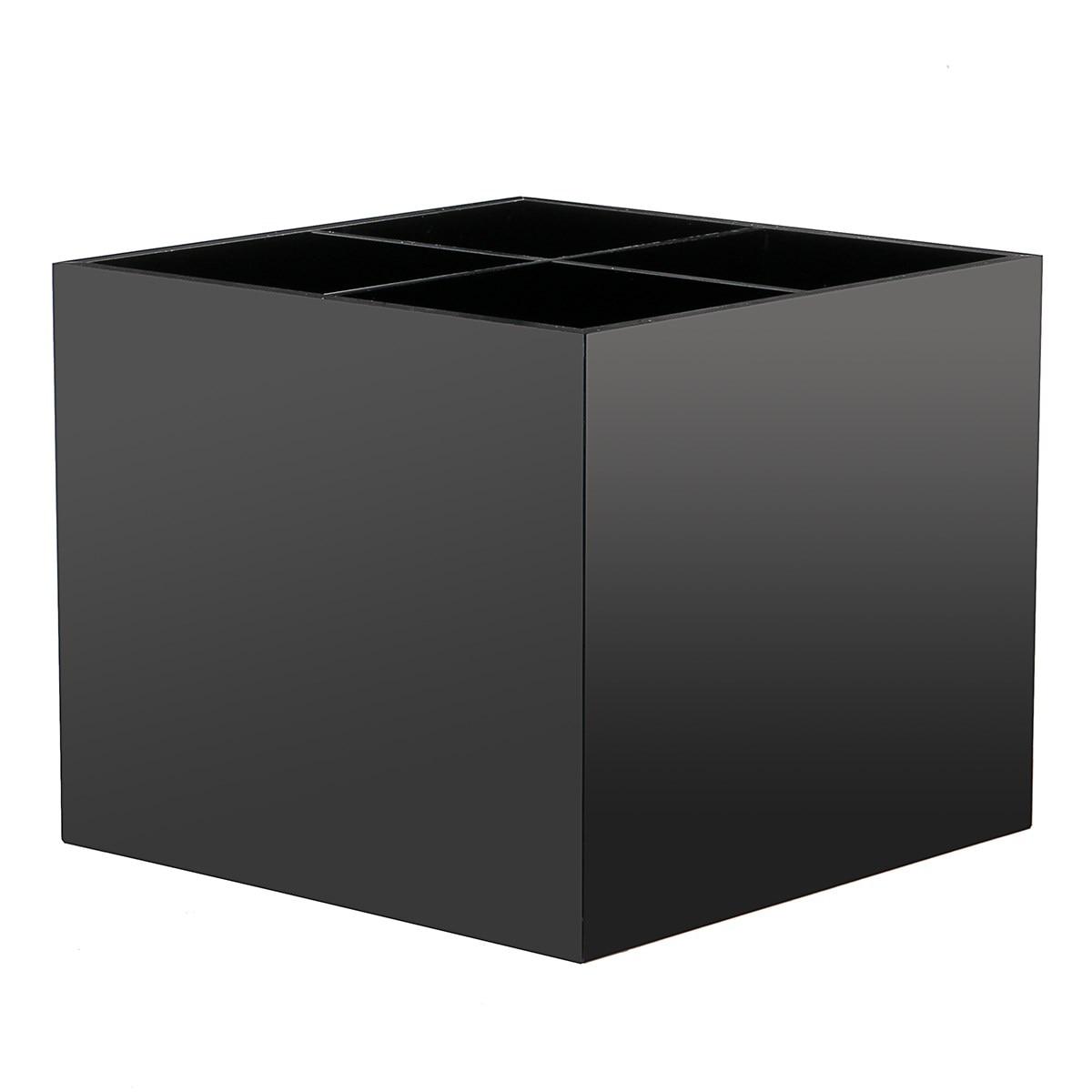 New 4 Grids Black Acrylic Cosmetic Organizer Box Makeup Tools Holder