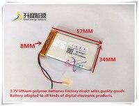 SD Customized small rechargeable li po battery 803457 1200mAh