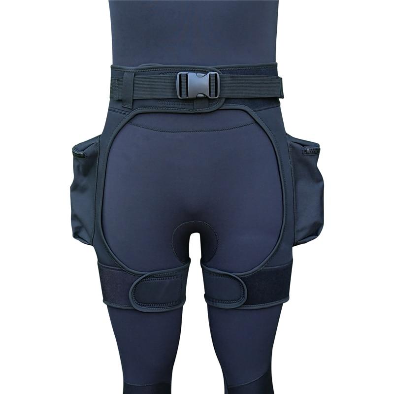 Néoprène combinaison Tech Shorts charge Submersible poids poche jambe cuisse pantalon Bandage pantalon équipement de plongée sous-marine accessoires - 2