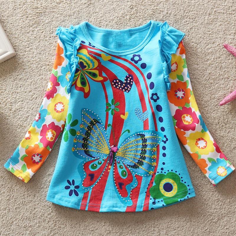 HTB1yS dRXXXXXanXVXXq6xXFXXXA - Girls Long Sleeve All Year T-Shirt, Long Sleeve, Cotton, Various Designs and Prints