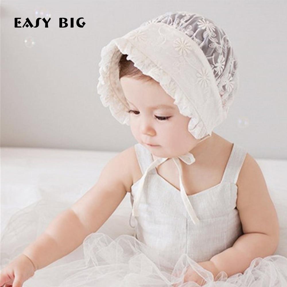 Lätt BIG 4-12Months Sommar Flickor Babyhattar Barn Justerbara Caps - Babykläder