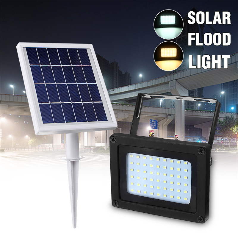 Mising Floodlight 54 LED Solar Lamp Light Waterproof IP65 Outdoor Lighting Emergency Security Garden Street Light mising remote control solar powered 30 led solar light bulb floodlight outdoor garden light emergency camping lamp