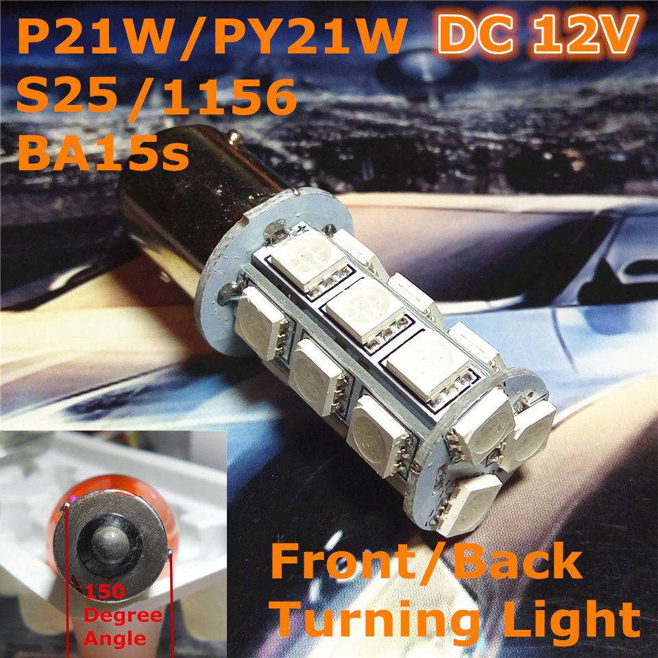 12V LED Car Bulb P21W S25 / 1156 BA15s Ângulo de 150 graus Single - Faróis do carro - Foto 1