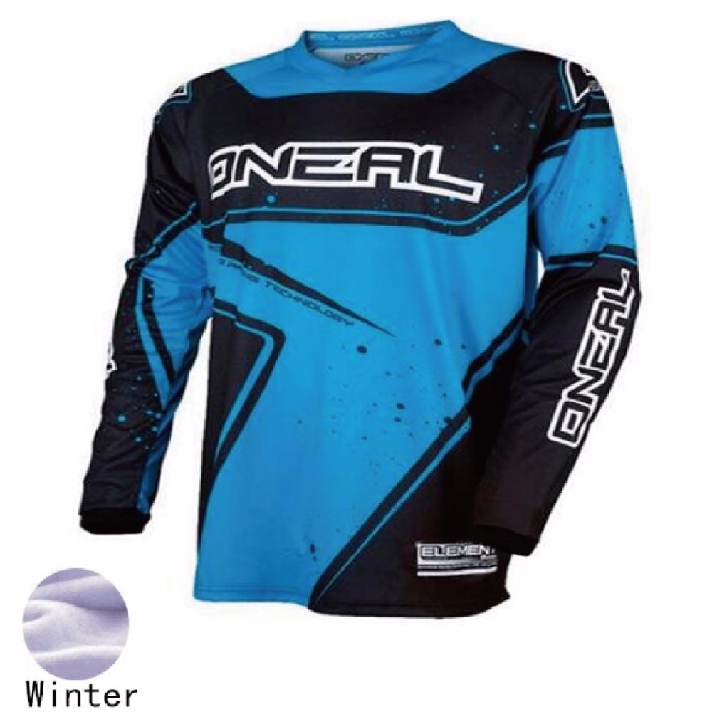 2018 New Bicycle Motocross summer racing jersey Thermal Fleece motorcycle moto long sleeve off-road jersey Polyester Bmx Riding