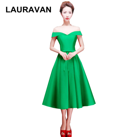 high quality short red green off the shoulder top modest ladies formal fitted   bridesmaid     dresses   ball gown blue free shipping