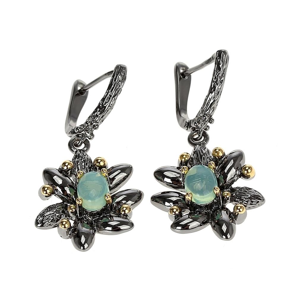 WE3890 opal stone earrings vintage gothic jewelry women (3)