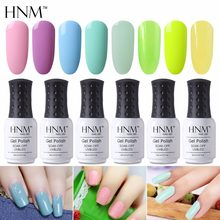 HNM 8 ML Color de luz de verano Gel de uñas estampado pintura de Gel de verano desnudo esmalte de uñas Gel barniz UV LED Gellak color Verde Gelpolish(China)