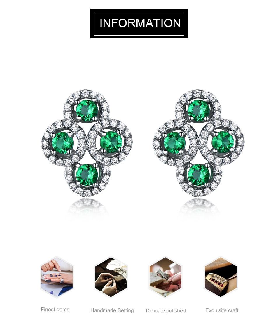 Emerald stud earrings for women UMCHO (1)
