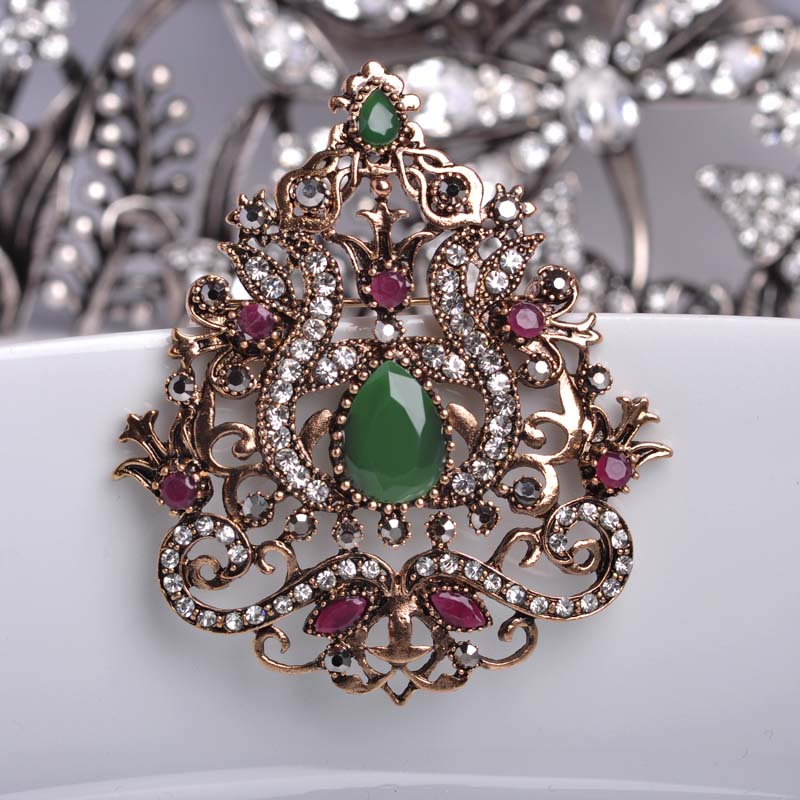 Vintage Women Decoration Brooches For Party Dress Hair ...
