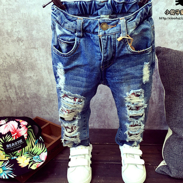 Aliexpress.com : Buy Ripped jeans boys jeans for kids 2015 kids ...