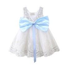 Summer Sleeveless Girl Dress O neck Lace Sequins Princess Dress Wedding Party Pageant Fancy TUTU Dress Toddler Baby Girls Clothe summer new princess baby girl toddler party tutu dress pageant wedding birthday gown formal lovely dresses