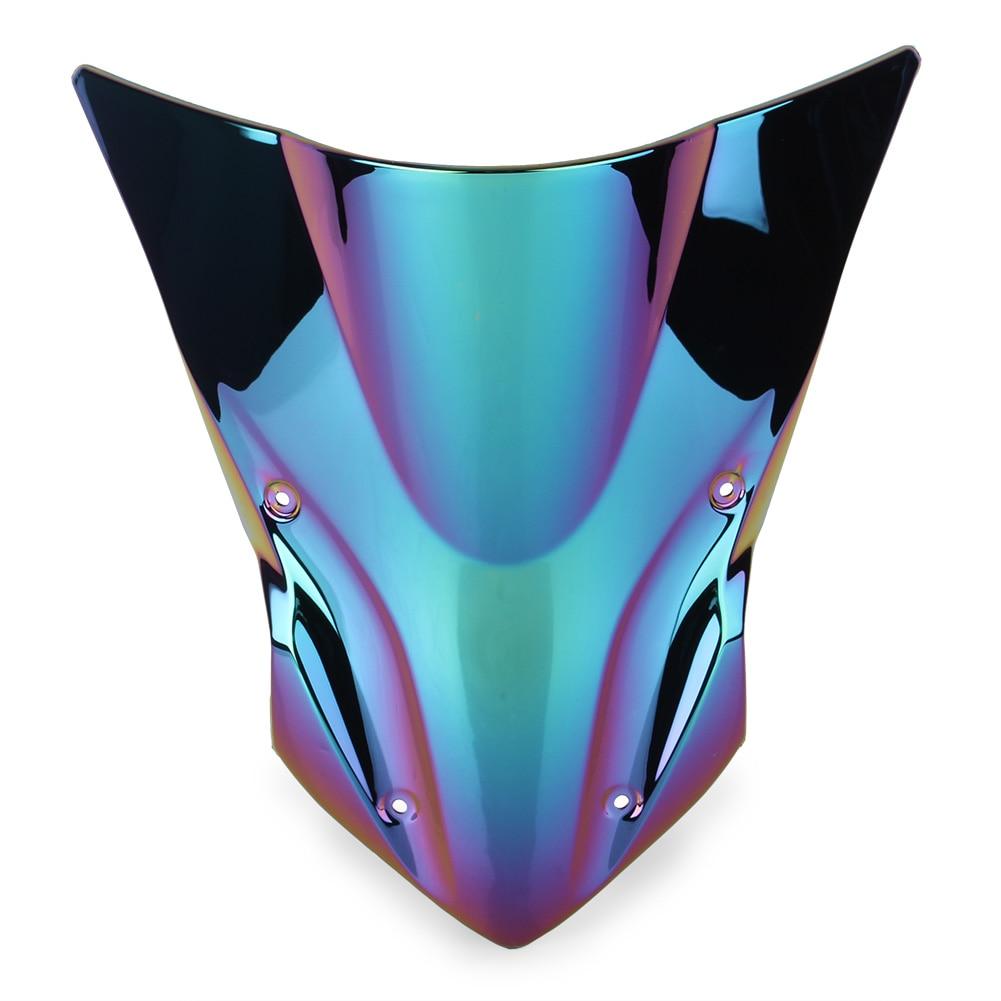 Z900 ветрозащитное ветровое стекло для Kawasaki Z 900 17 18 аксессуары для мотоциклов ABS пластик - Цвет: Deep-Iridium