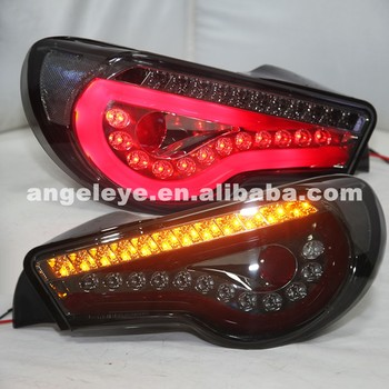 For Toyota GT86 FT86 Red Strip LED Tail lamp Rear Lights 2013-2014 year Smoke Black SN