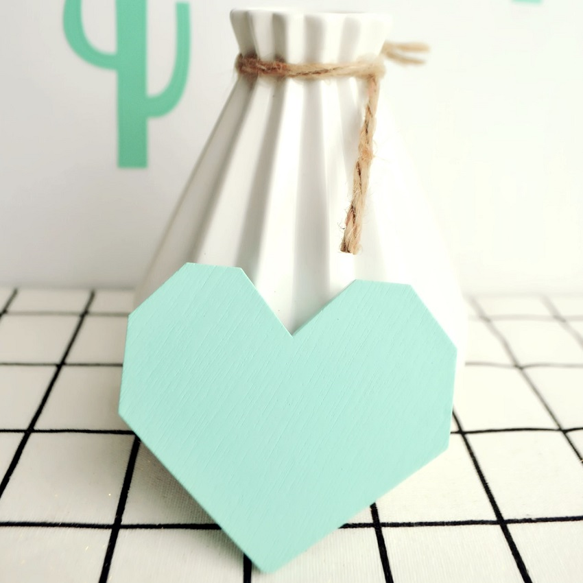 Cute digital heart wooden hook hangers for kids room wall for Wall hooks for kids room
