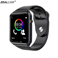 ZEALLION Smart Watch A1 Clock Sync Notifier Support SIM TF Card Connectivity For Android IOS Smartwatch
