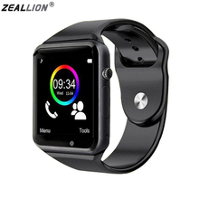 цена на ZEALLION Smart Watch A1 Clock Sync Notifier Support SIM TF Card Connectivity For Android IOS Smartwatch PK DZ09 GV18 GT08