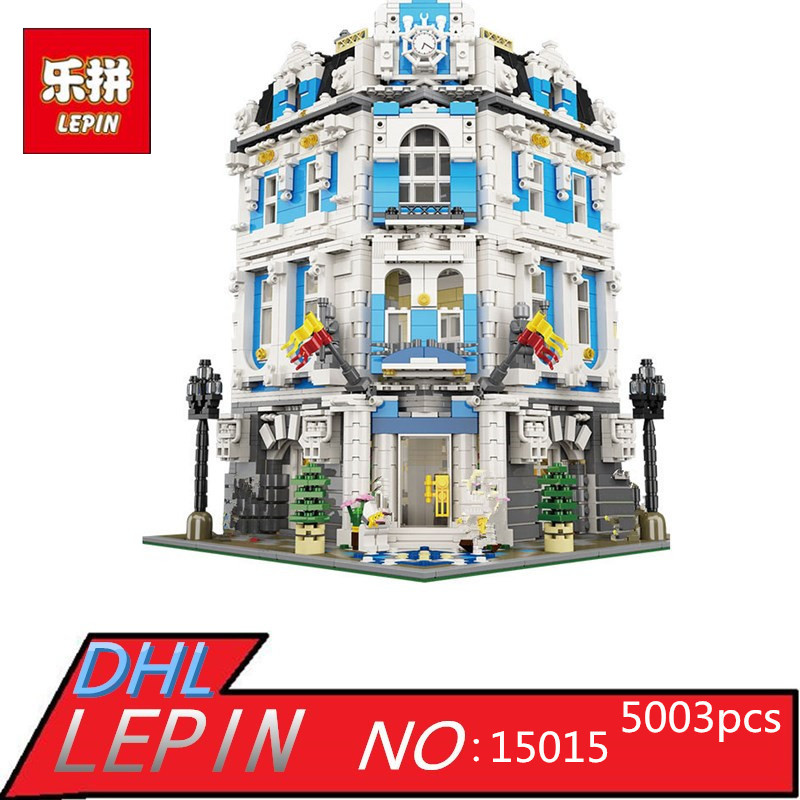 Creator City LEPIN 15018 3196pcs The Sunshine Hotel Set Educational Building Blocks Bricks Toys for Children Gift laete 15018