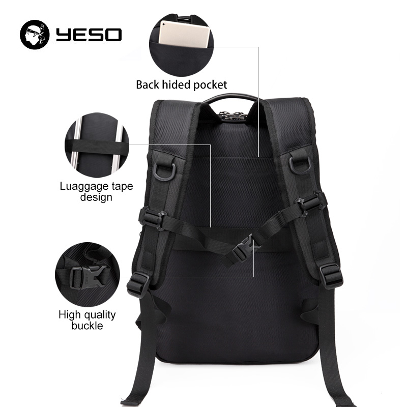 Grande Sac Noir À Pouce Dos Pour Capacité Étanche Mochila Black Multifonction Hommes Portable Yeso 2018 6 15 Fit qEUSwdqn
