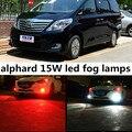 Para toyota alphard 2011-2014 accesorios 9006 15 W del Poder Más Elevado Brillante 5730 15 SMD LED Del Coche de la Niebla de Conducción Bulbo de Lámpara de luz