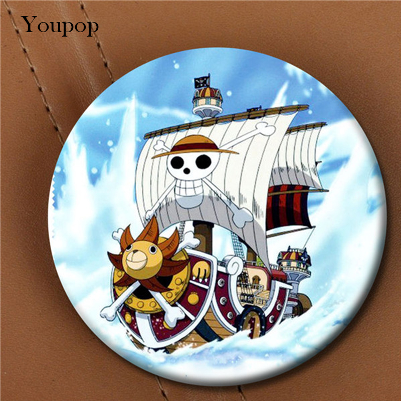 Youpop ONE PIECE Going Merry Thousand Sunny Brooch Pins Badge Accessories For Clothes Hat Backpack Decoration Men Women Boy Girl