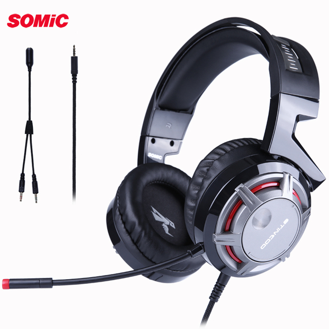 SOMIC G926S PS4 Gaming Headset casque Wired PC Stereo Earphones Headphones with Mic for New Xbox One/Laptop Tablet computer