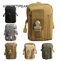 Airsoftpeak tático molle cinto bolsa bloco de fanny saco da cintura militar ao ar livre bolsas caixa do telefone sacos de caça do bolso para iphone 7