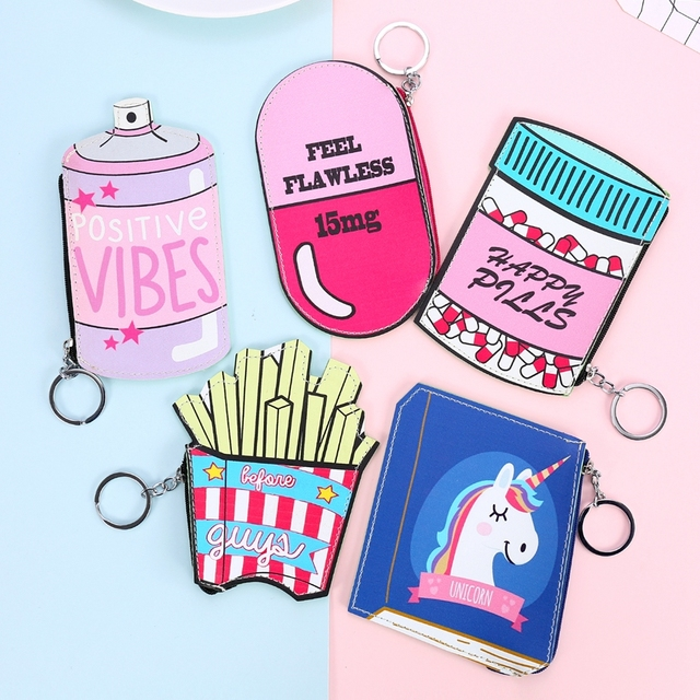 Happy Pill Fries Coin Purse