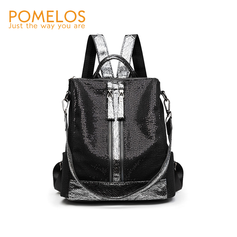 POMELOS Backpack Women 2019 New Arrival Woman Laptop Backpack 13 inches High Quality Fabric Lace Sequin Backpack Travel Women