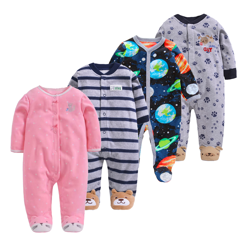 New Baby Spring Boys Clothing Newborn   Rompers   Baby Girl Jumpsuit Warm Fleece Kids Jumpsuit 0-12m Cheap Infant Outfit Clothing