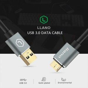 Image 4 - Lano usb 3.0 tipo a micro b usb3.0 cabo de cabo de sincronização de dados para disco rígido externo hdd samsung s5 USB C cabo de disco rígido