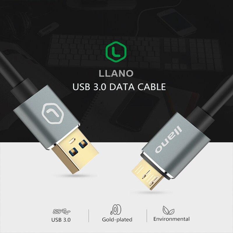Image 4 - Llano USB 3,0 тип A Micro B USB3.0 кабель синхронизации данных Шнур для внешнего жесткого диска HDD samsung S5 USB C кабель жесткого диска