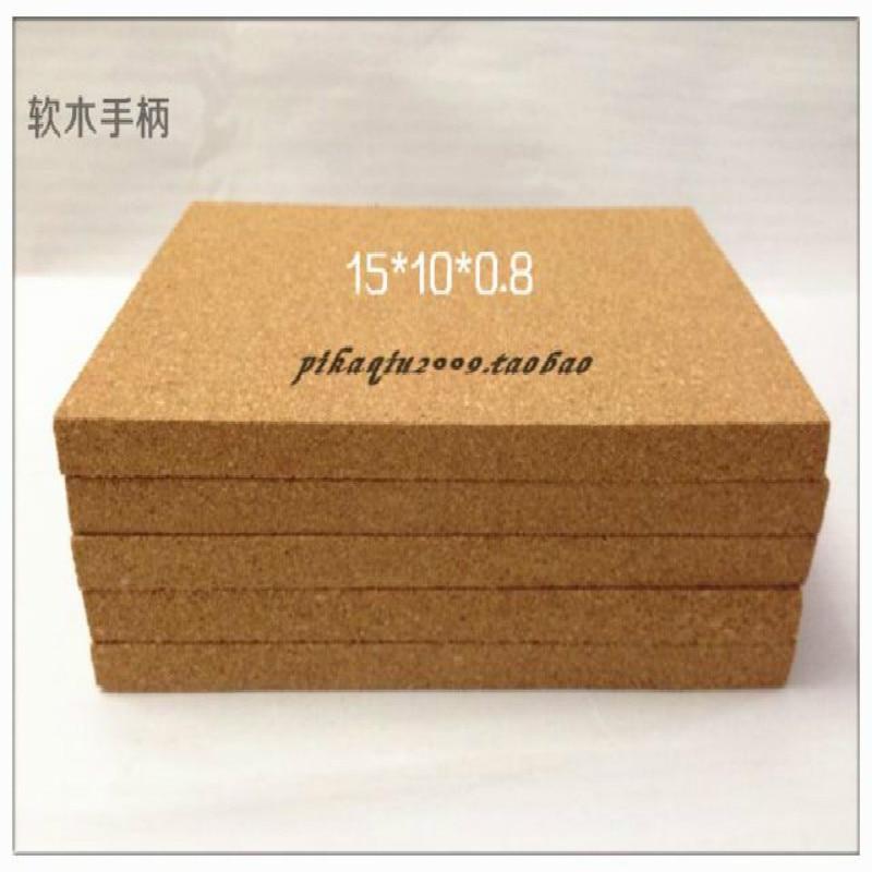Superfine Particle Rubber Brick Cork Handle Rubber Handle Handle 15 * 10 * 0.8 CM and 15 * 20 * 0.8cm 2 Specifications laboratory cork borer sets rubber stopper one set