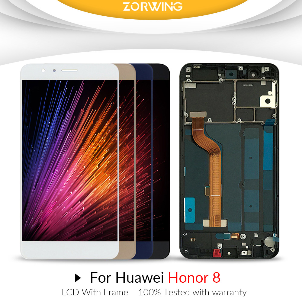 For Huawei Honor 8 LCD Display Touch Screen Digitizer Honor8 For 5.2 Huawei Honor 8 LCD With Frame Replacement FRD-L19 FRD-L09For Huawei Honor 8 LCD Display Touch Screen Digitizer Honor8 For 5.2 Huawei Honor 8 LCD With Frame Replacement FRD-L19 FRD-L09