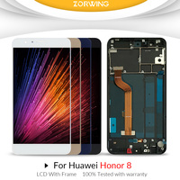 For Huawei Honor 8 LCD Display Touch Screen Digitizer Honor8 For 5.2 Huawei Honor 8 LCD With Frame Replacement FRD L19 FRD L09