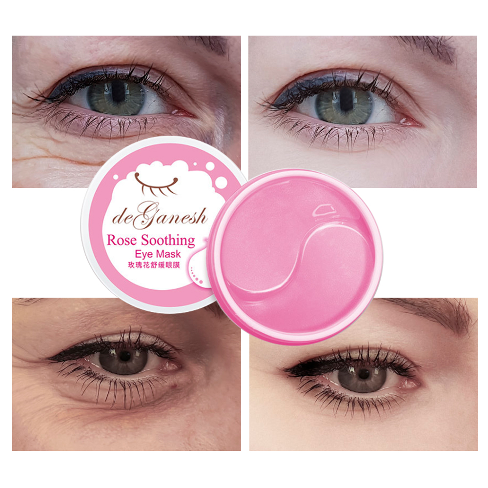Image 3 - Rose Crystal Collagen Eye Mask Pink Eye Patches For Eye Face Care Dark Circles Remove Anti aging Moisturizing Gel Mask-in Creams from Beauty & Health