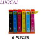 LuoCai Compatible Ink Cartridges 6 PIECES For Epson T2421-T2426 EXPRESSION PHOTO XP- 750 760 850 860 950 Printers