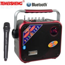 TEMEISHENG High Power Portable Loudspeaker Bluetooth Speaker Support Wirelss Microphone Outdoor audio speaker MP3 Music Player