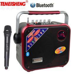 TEMEISHENG High Power Portable Loudspeaker Bluetooth Speaker Support Wirelss Microphone Outdoor audio speaker MP3 Music Player