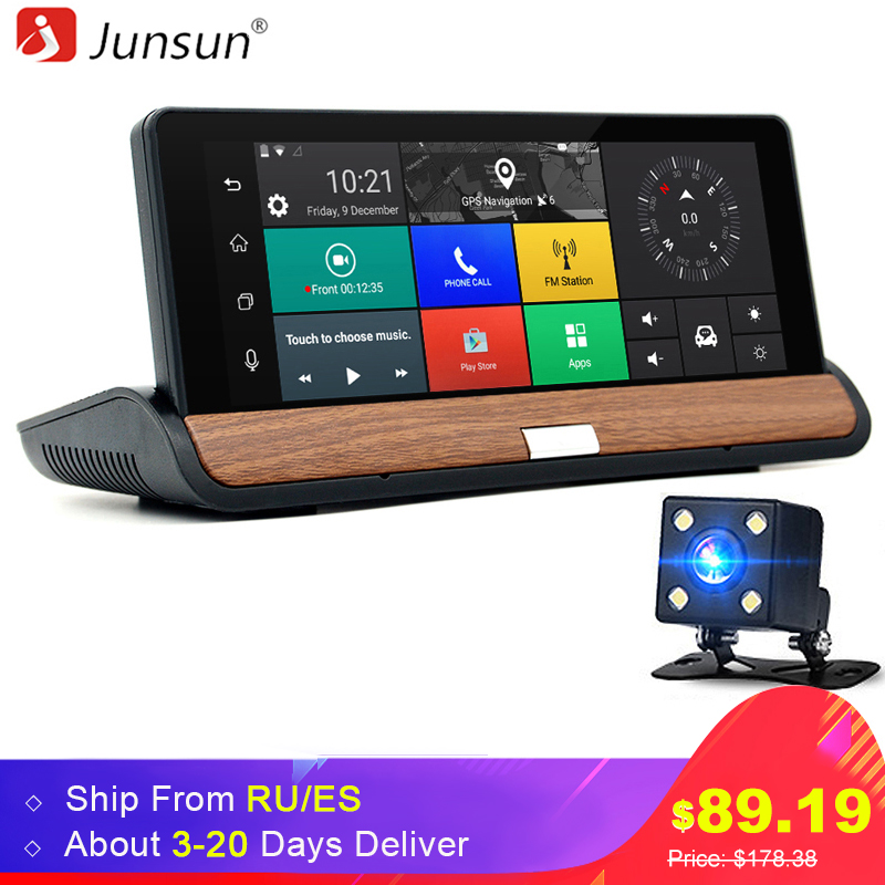 Junsun 3G 7 inch Car GPS Navigation Bluetooth Android 5.0 Navigators Automobile