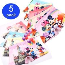 5pcs/Lot Children Girls 3D Cartoon Mickey Cute Underwear Kids Cozy Cotton Underpants Infant Baby Girl Panties Boxer Briefs3-10T