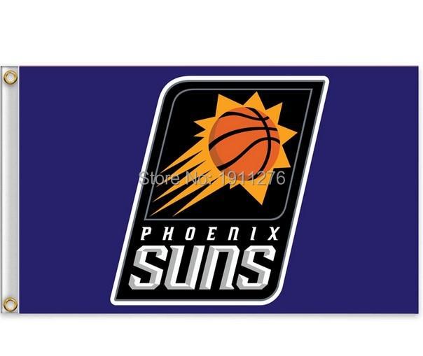 <font><b>Phoenix</b></font> <font><b>Suns</b></font> Flag 3x5 FT 150X90CM <font><b>Banner</b></font> 100D Polyester NBA flag , free shipping