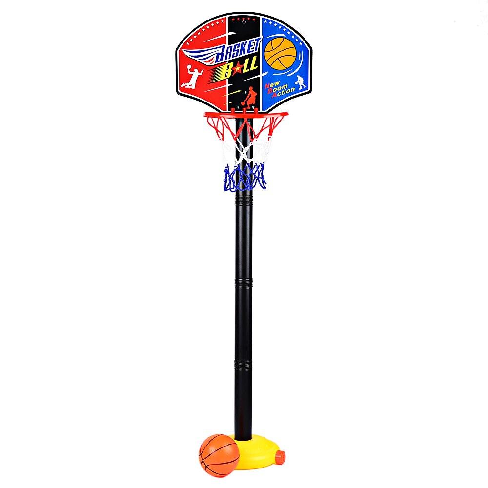 Criança Brinquedo Esportes Conjunto Com Inflator Portátil Tabela de Basquete Stand Altura Ajustável Basquete Ao Ar Livre Indoor Brinquedo Jogo de Esportes