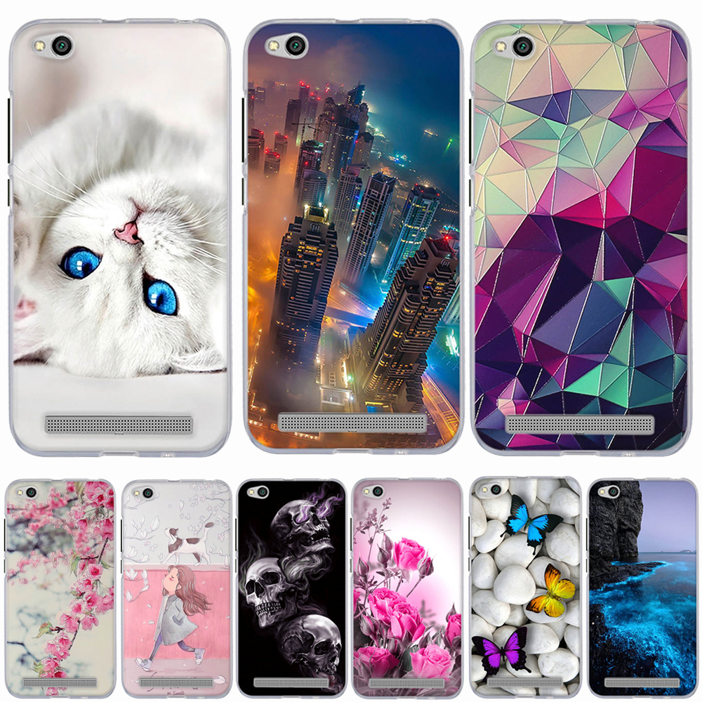 Case For Xiaomi Redmi 5A Case Cover Silicon Case For Xiaomi Redmi 5A Cover 3d Cat Flower Cartoon Fundas For Xiaomi Redmi 5A Capa