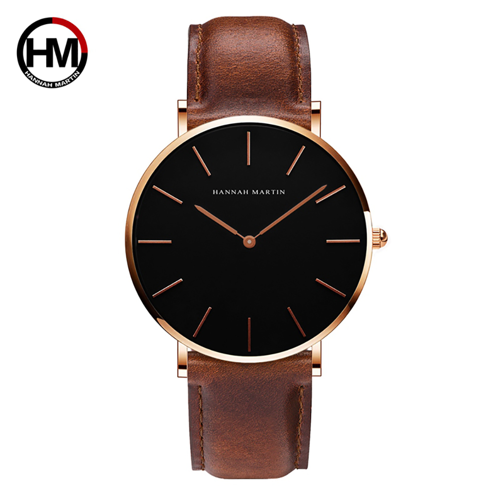 Lovers Watch Couples Watches Luxury Brand Quartz Men Women Watches Gold Black Watch Leather Male Female Wristwatch Parejas Gift