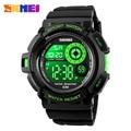 Skmei hombres deportes relojes reloj militar casual digital led multifuncionales de pulsera 50 m impermeable reloj estudiante 1222